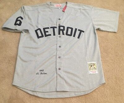 e69b4a15 ireland al kaline detroit tigers retro throwback jersey mens xl nwt 1968  style road gray e9c0c