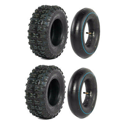 "Pair 13x5.00 - 6"" inch Tyre Tire + TUBE ATV QUAD Bike Gokart Scooter Buggy Mower"