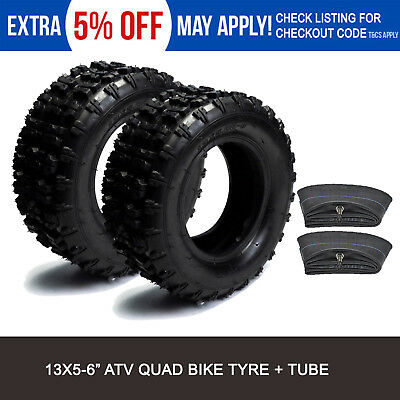 "Pair 13x5-6 13x5.00-6"" Tire Tyre+ Inner Tube For Gokart Buggy ATV Quad 4Wheeler"