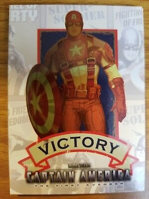 2011 Upper Deck Captain America The First Avenger #P-1 Poster Card Victory