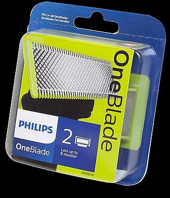 NEW Philips OneBlade QP220/50 Replaceable Blade Head  - 2 Blades