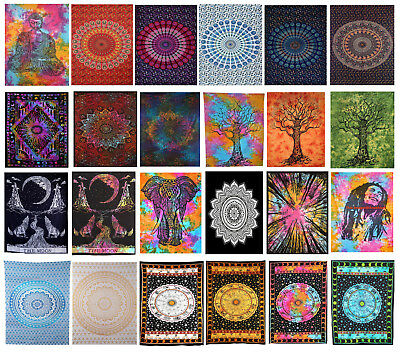Indian Mandala Tapestry Wall Hanging Twin Hippie Bedspread Gypsy Art Decor Throw