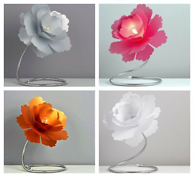 New Paloma Flower Table Lamp Adjustable Pink Copper Chrome Silver White
