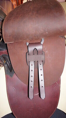 Girth Converter Western to English Girth Conversion 2 Straps Pair Leather Brown