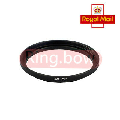 49-52mm Step-Up Metal Adapter Ring / 49mm Lens to 52mm Accessory UK FAST SHIP
