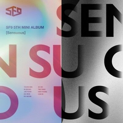 SF9-[Sensuous]5th Mini Album 2 Ver SET CD+Booklet+PhotoCard+Gift K-POP Sealed