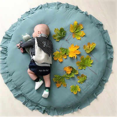 100% Cotton Baby Crawling Rug Kids Children Game Play Mat Soft Carpet Blanket