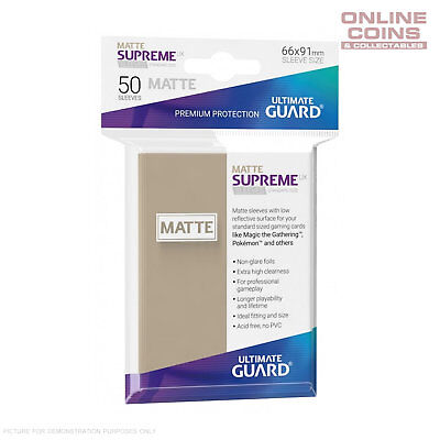 Ultimate Guard SUPREME UX MATTE Standard Card Sleeves - SAND - Pack of 50