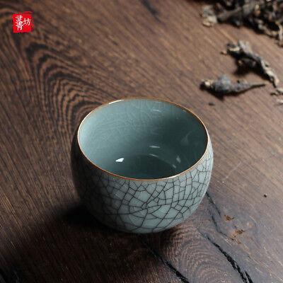 Longquan Celadon Tea Maker Tea Cup Ice Crack Ceramic Small Tea Cup