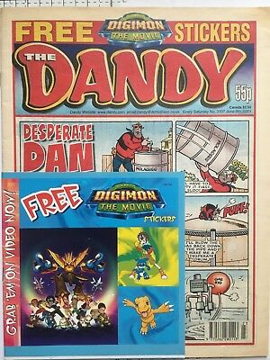 The Dandy Comic Number 3107, June 2001, Complete With Free Gift