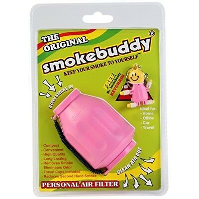 Smoke Buddy Personal Air Purifier Cleaner Filter Removes Odor - Pink