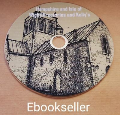Hampshire historical Directories, & kellys directories ebooks, in pdf on disc