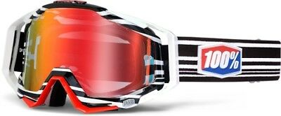 100% Percent Racecraft Mx Motocross Goggles Barcode - Mirror Red Lens