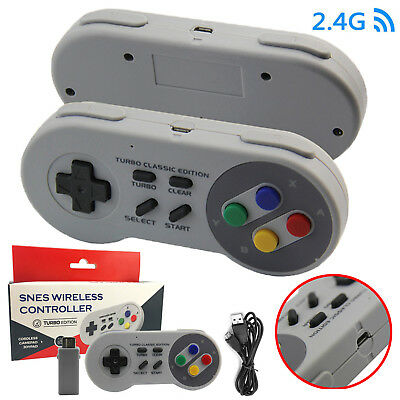 2.4G RF Wireless Game Controller Gamapad for Super Nintendo SNES Classic Edition