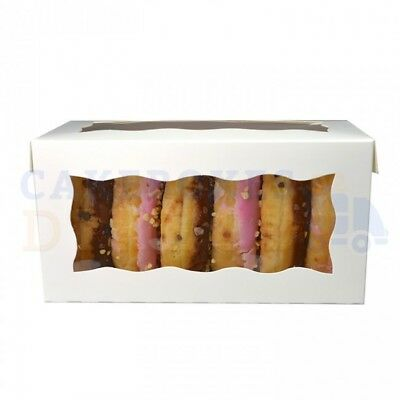 Doughnut Boxes 4X4X8 Inch With Window Cheapest On Ebay Choose Your Qty & Colour