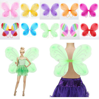 Adult Elf Butterfly Wings Fairy Dress Up Girls Costume Gift Photo Props UK STOCK