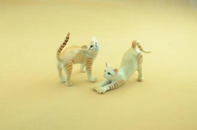 New 2018 -  Orange Tabby Cat Arched And Stretching, Really Cute *mint*