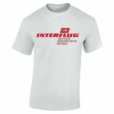 INTERFLUG T Shirt Retro DDR Deutsche Demokratische Republik Airline