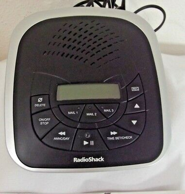 RADIO SHACK DIGITAL ANSWERING SYSTEM w/Instructions & Adapter 3-Mailbox #43-3829