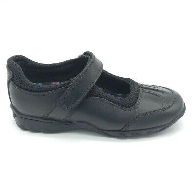 Hush Puppies Calamity Junior Girls School Shoes Black Leather  60% OFF RRP