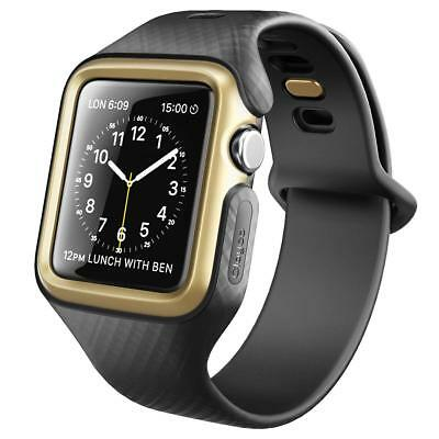 Clayco® Apple Watch 3 (42mm) [Hera] Schutzhülle Case Cover mit Armband [Gold]