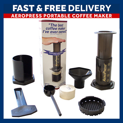 Aerobie AeroPress Coffee & Espresso Press with FREE Replacement Cap - UK Seller