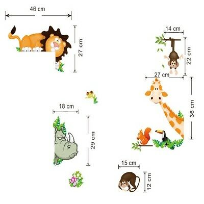 Wall Stickers For Children's Bedroom New Zoo Animals Background Wall Decoration