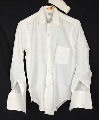 60s  Arrow New Par Sanforized Shirt French Cuff Men's L XL Rockabilly Hipster