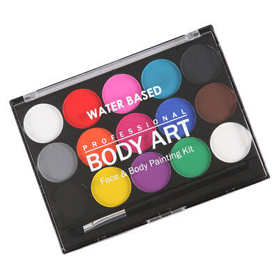 Water Based Face Paint Palette 15 Colors Non-toxic Face Body Painting Kit