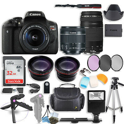 Canon EOS Rebel T6i DSLR Camera with (2) Lenses + More