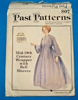 Past Patterns 807 Mid-19th Century Wrapper W/Bell Sleeve