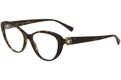 5ba5957f4d59 Versace Women s Eyeglasses 3246 B 108 Dark Havana Full Rim Optical Frame  52mm
