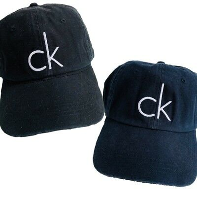 154278b0e5f CALVIN KLEIN CK Athletic Adult Baseball Cap Leather Enclosure Hat ...