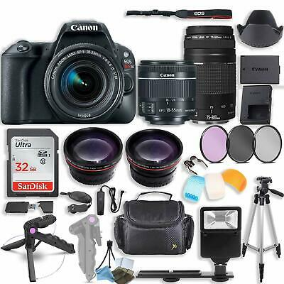 Canon EOS Rebel T6 DSLR Camera with (2) Lenses and Accessory Bundle