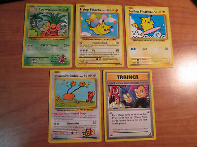 NM Complet Secret Rare Pokemon XY Evolutions Carte Set Volant / Surfant Pikachu