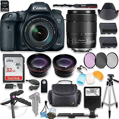 Canon EOS 7D Mark II DSLR Camera with Canon 18-135mm USM Lens Kit