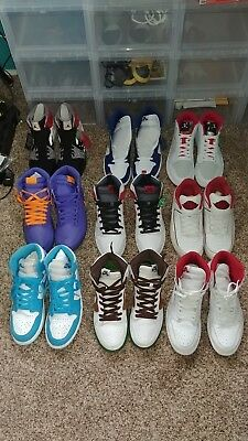 air jordan 1 shoe collection bundle lot rare yeezy 11 10.5 11.5