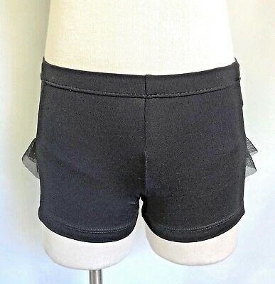 NWT RUNS SMALL SO DANCA Ladies Low Rise Dance Booty Shorts Black or Red