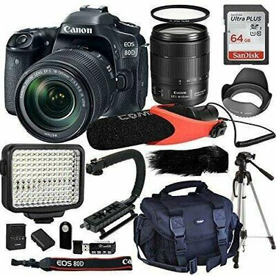 Canon EOS 80D Digital SLR Kit with EF-S 18-135mm f/3.5-5.6 USM Lens