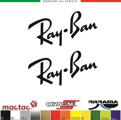 2 ADESIVI RAY-BAN RAYBAN mm.50x25 STICKERS DECALS AUFKLEBER PEGATINAS NO GLASSED