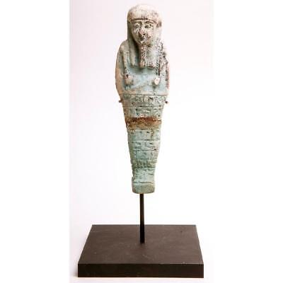 Ancient Egyptian Faience Ushabti c.635 BC.