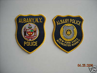 """New"" (2) Styles Albany New York Police Sleeve Patches-"