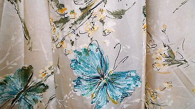 Vintage 1950's Mid-Century Pretty Silky Floral Butterfly Party Prom Formal Dress