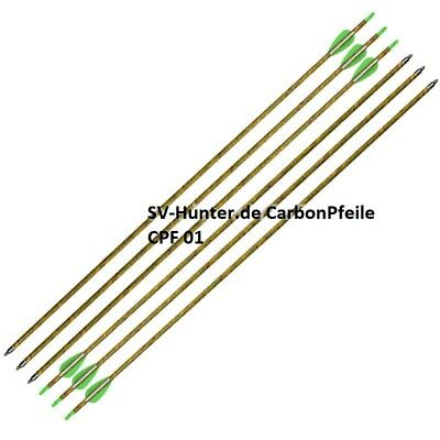 CarbonPfeile 28 - 32 Tarn Camo Jagd Turnier Recurve Compound Spine 320 - 800 Neu