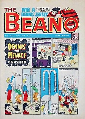 BEANO - 26th AUGUST 1978 (24 - 30 Aug) SUPERB 40th BIRTHDAY GIFT !! FINE..beezer