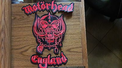Motorhead England,sew On 3 Pieces Set Red Embroidered Large Back Patch