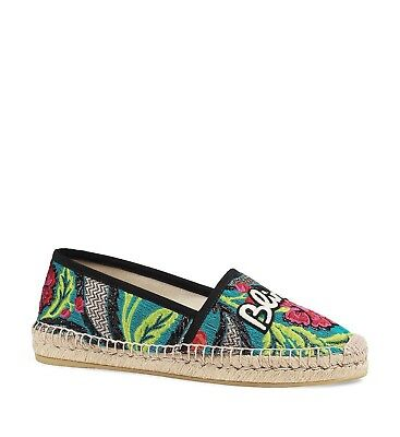 82bd8361a59 New In Box Gucci Blind For Love Brocade Espadrilles Sz 35 5  690.00  2018