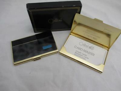 Lot of 2 Engravable Colibri Executive Business Card Holder Cases