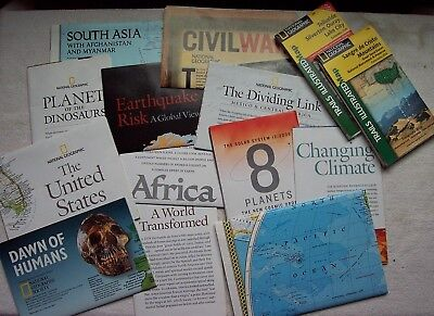 Mixed Lot 14 National Geographic maps, 12 inserts 2 TRAILS ILLUSTRATED Maps Colo