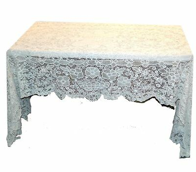 Rare Large Antique Handmade White Needle / Bobbin Lace Tablecloth ca. 1920's